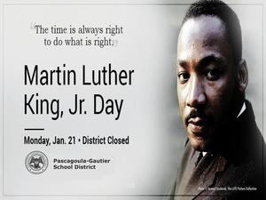 Martin Luther King Holiday - No School