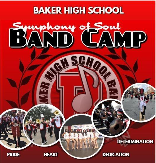 A flyer advertising the 2019 BHS Symphony of Soul Band Camp