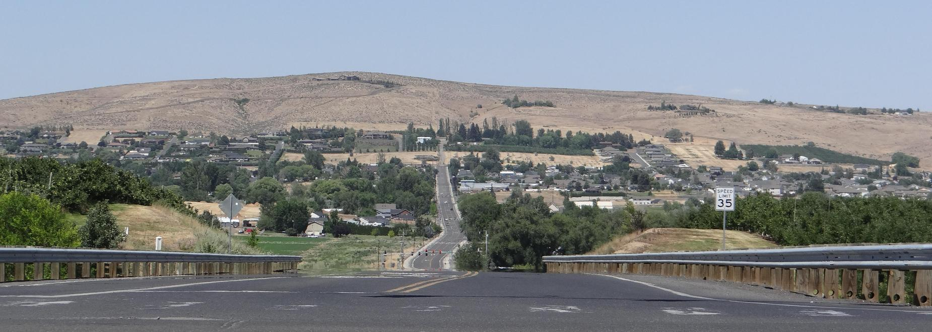 Northern view of 96th Ave from WVHS