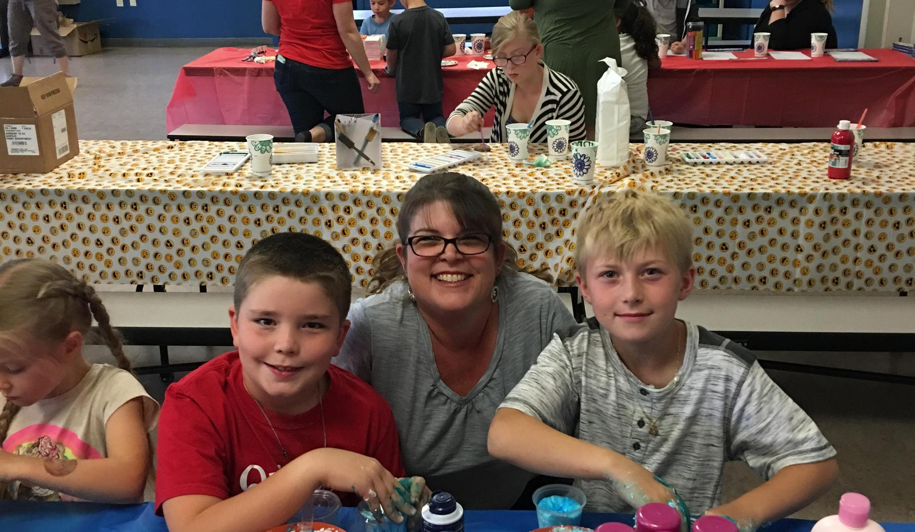 Ms. Pini, Colton and Hunter