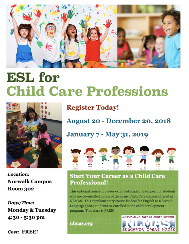 NEW!  ESL for Child Care Professions! Featured Photo