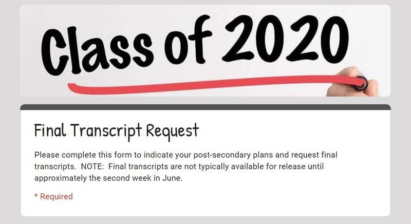 Final Transcript Request Form