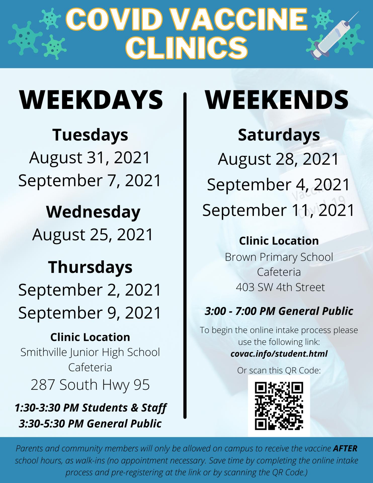 COVID Vaccine Clinic Flyer