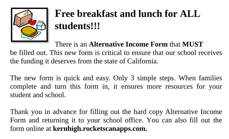 Free Breakfast and Lunch for ALL Students Thumbnail Image