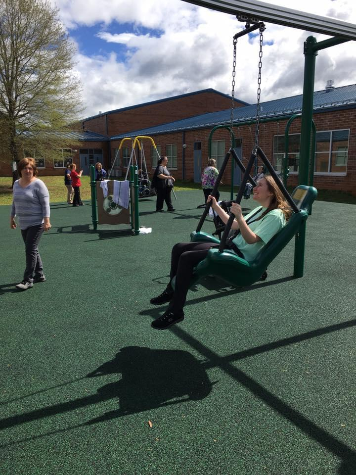The swing on the new playground