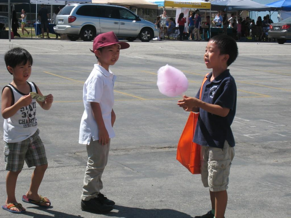 Students during the PTA/ASB Community Building Picnic