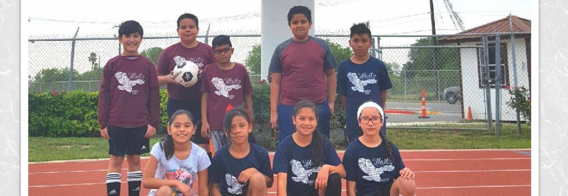 Soccer kids at Tom Landry stadium