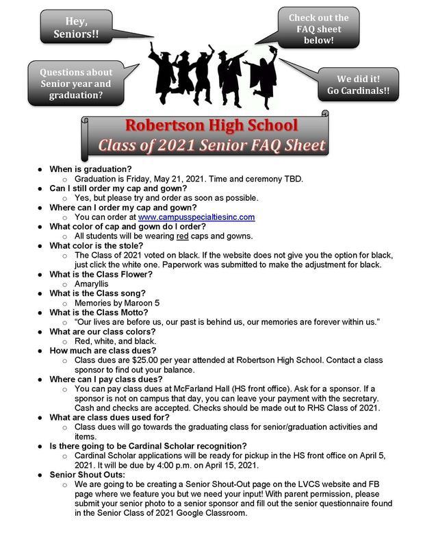 Senior FAQ 1