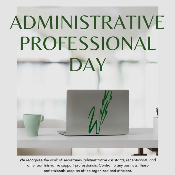 graphic reads administrative professional day