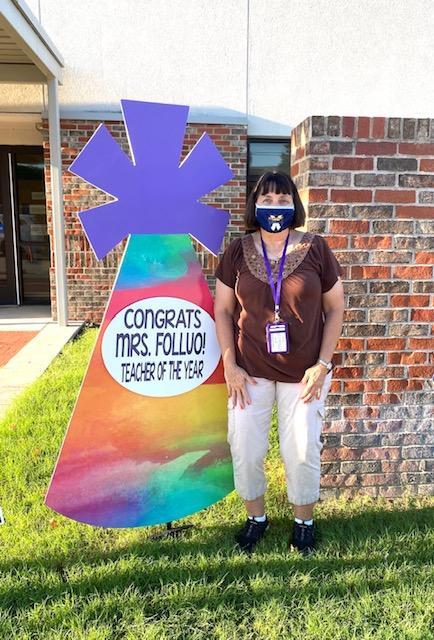 Congratulations Mrs. Folluo ~ Teacher of the year! Thumbnail Image