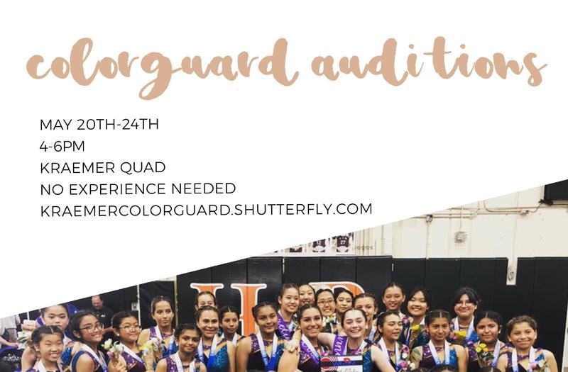 Colorguard Auditions