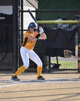 Canton Bears Softball team member up to bat