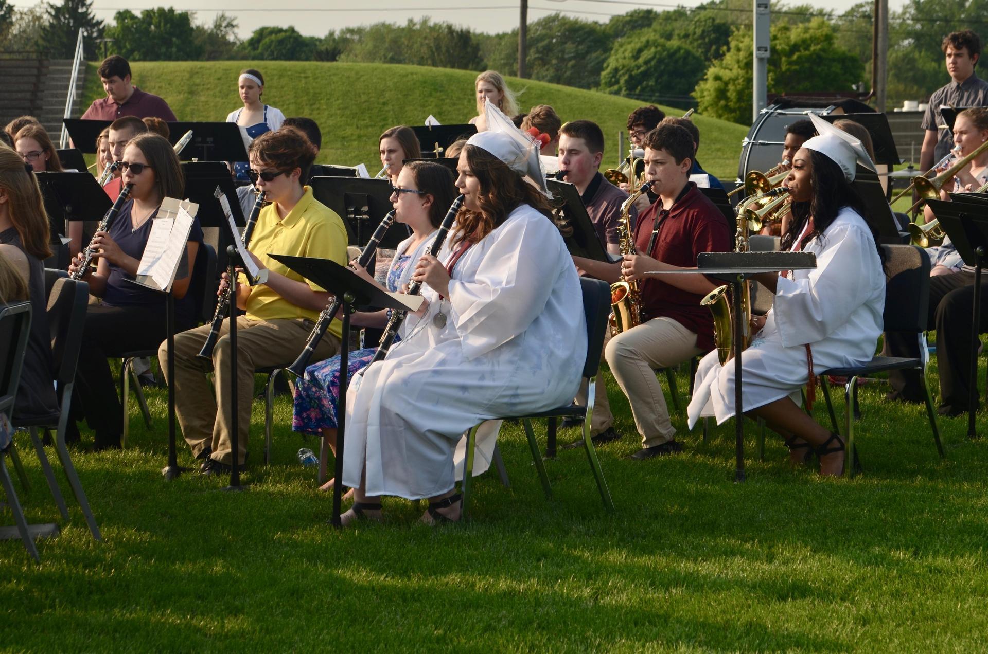 band performing at graduation