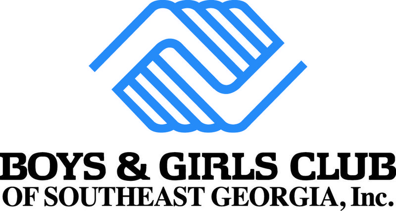 Boys and Girls Club logo of two blue hands intertwined