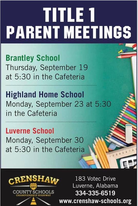 Title 1 Meetings