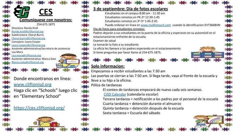 Spanish Version Sept. 2020 CES Newsletter