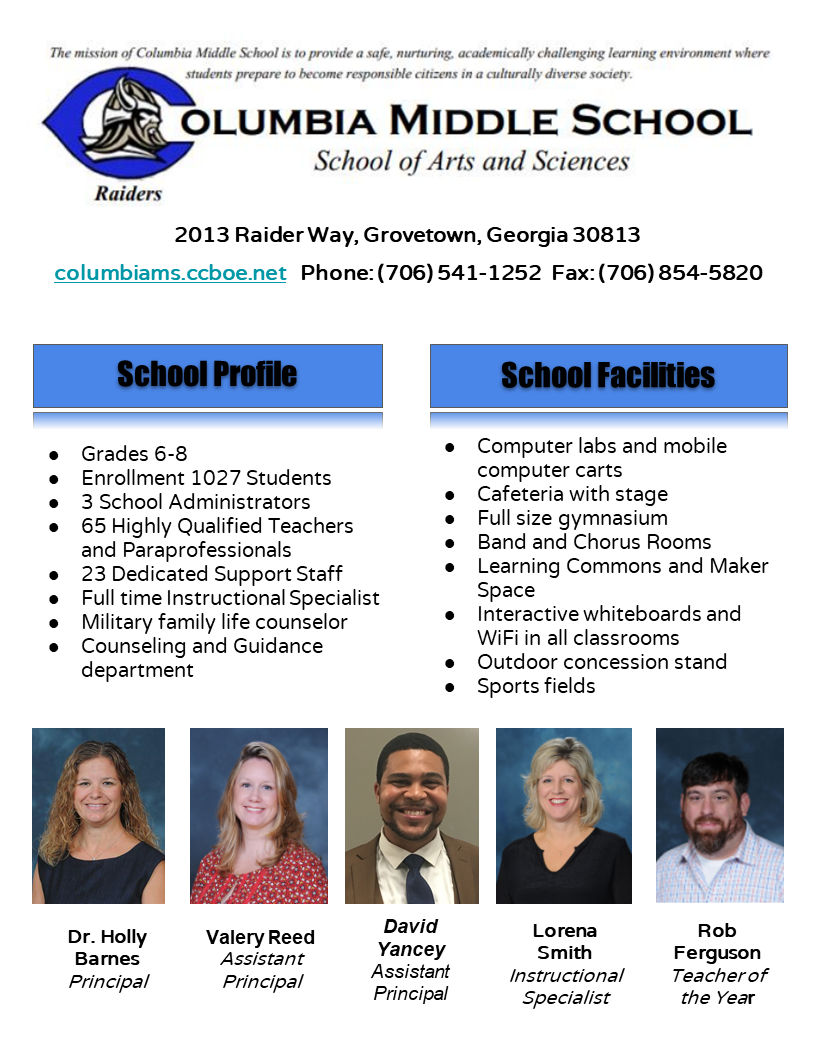 school profile info