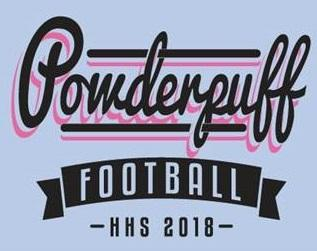 Powderpuff T-shirt design (blue).