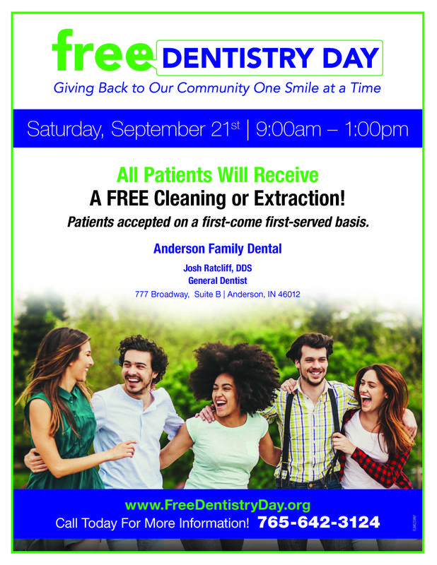 Flyer for Free Dentistry Day