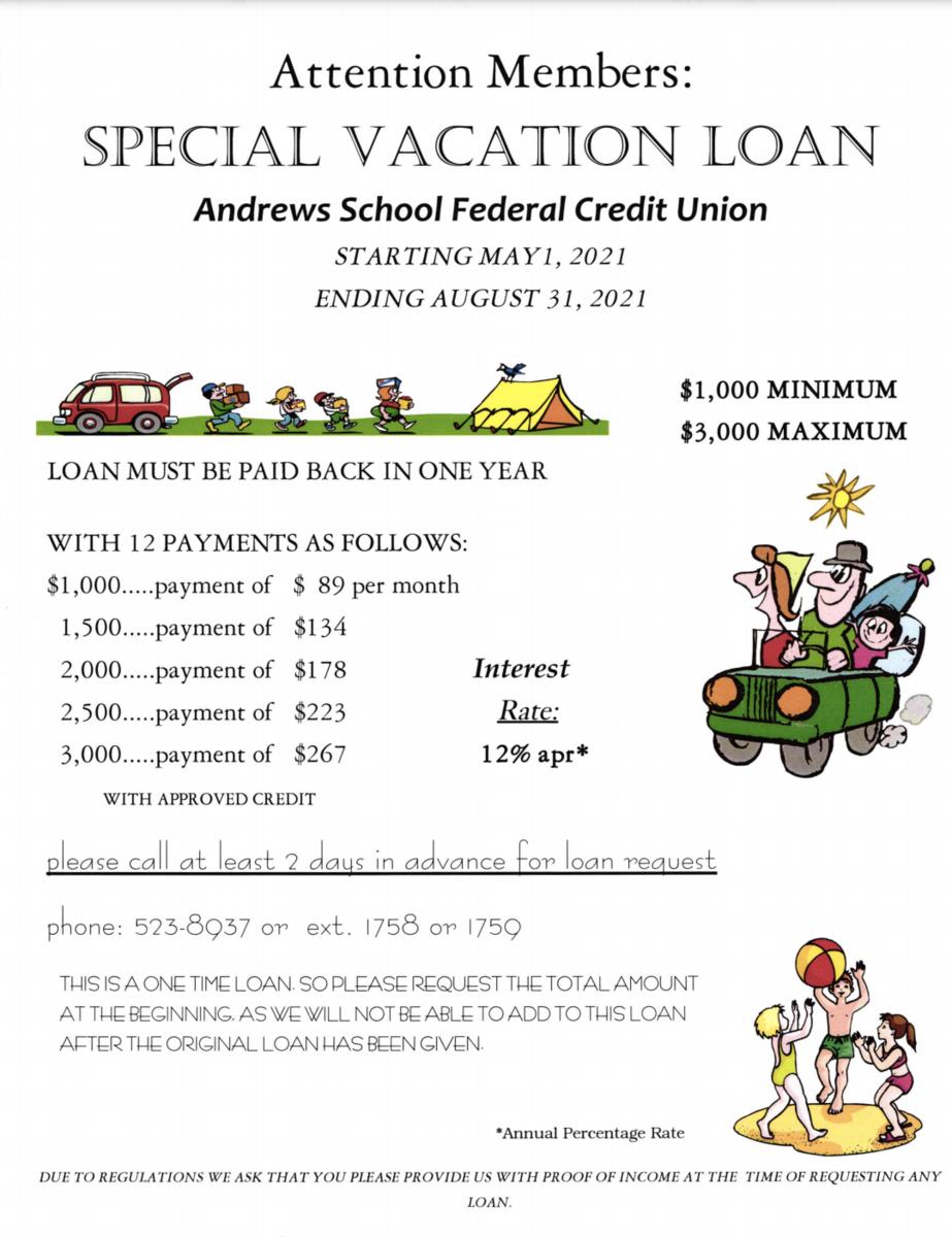 Summer Vacation Loan