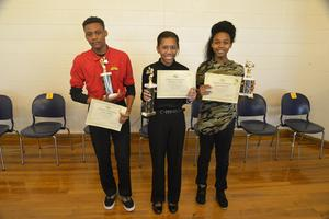 From left to right: Burnis Williams, Khalandrea Council, Keziah Wright-Gross
