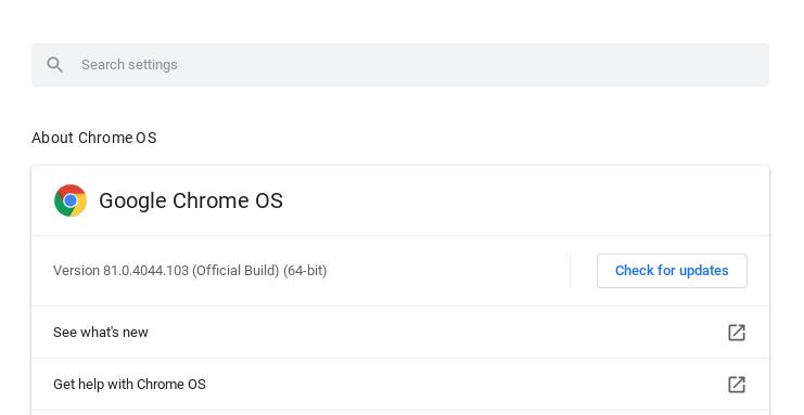 Chrome Update