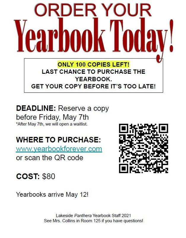 only 100 yearbooks left.  order yours today