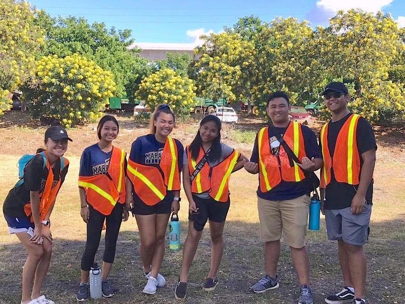 Waipahu NHS Volunteers at Oahu Arbor Day