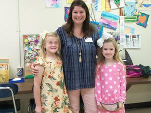 Assistant Principal Keri Lovell and students.