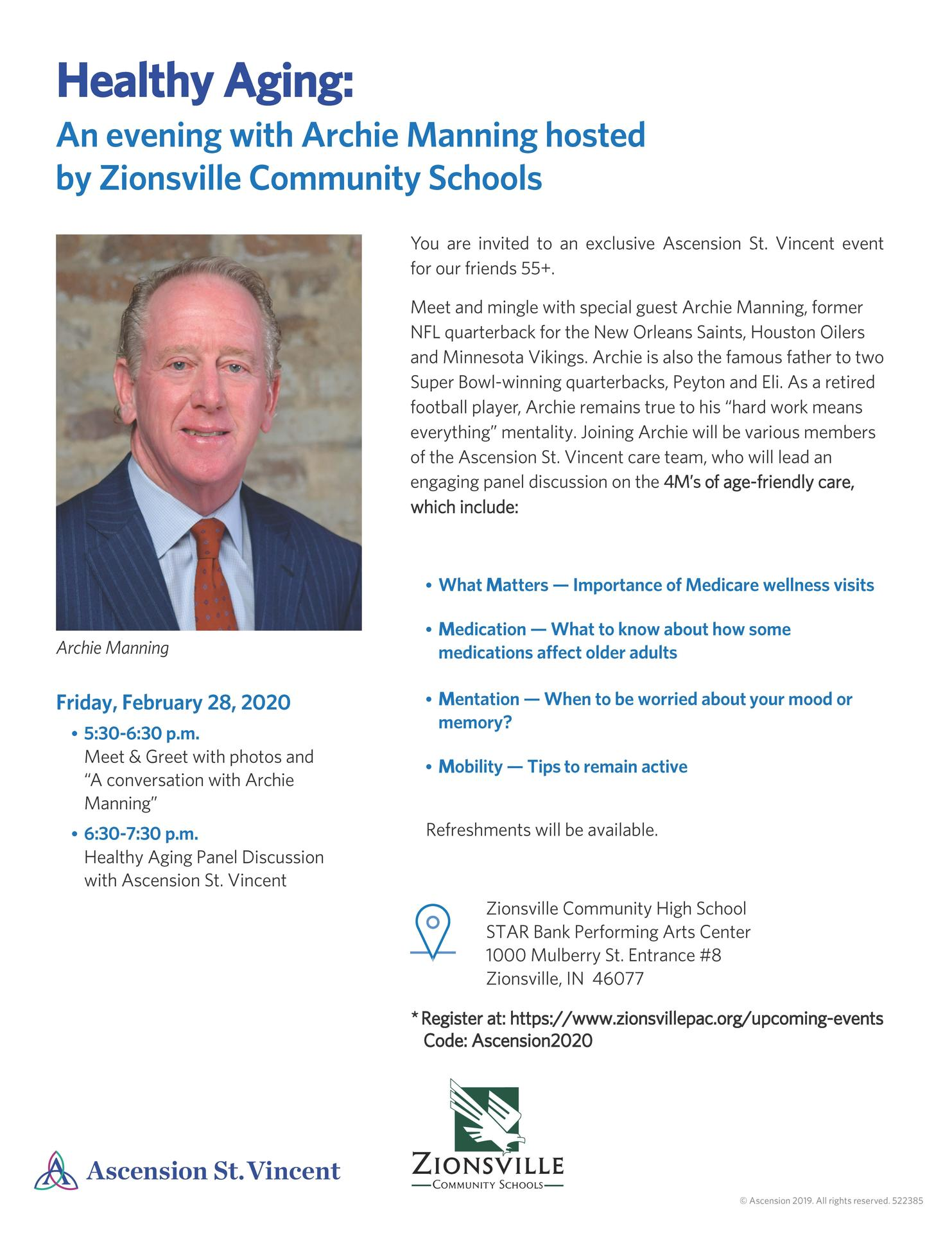 Healthy Aging with Archie Manning