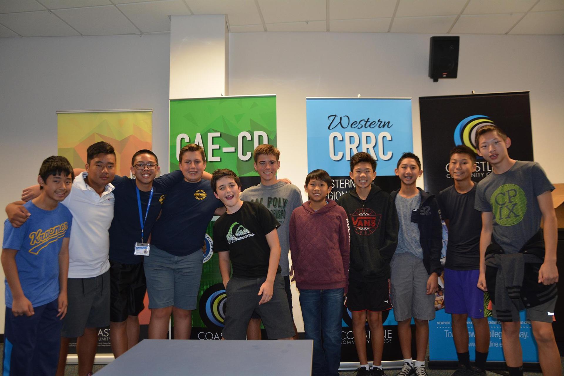 Cyber Patriots at Kraemer Middle School