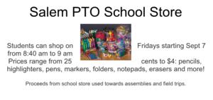 School store flyer