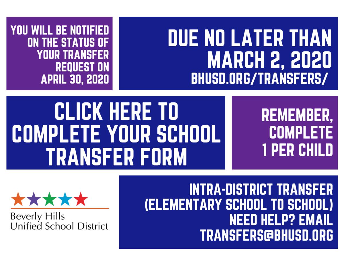 Intra-District Transfer (Elementary School to School)