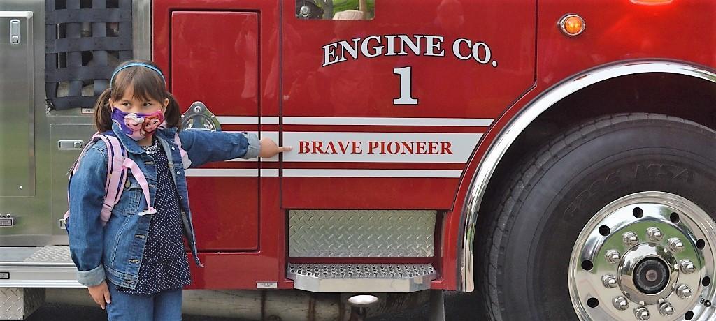 1st grader names Prairie State College fire truck