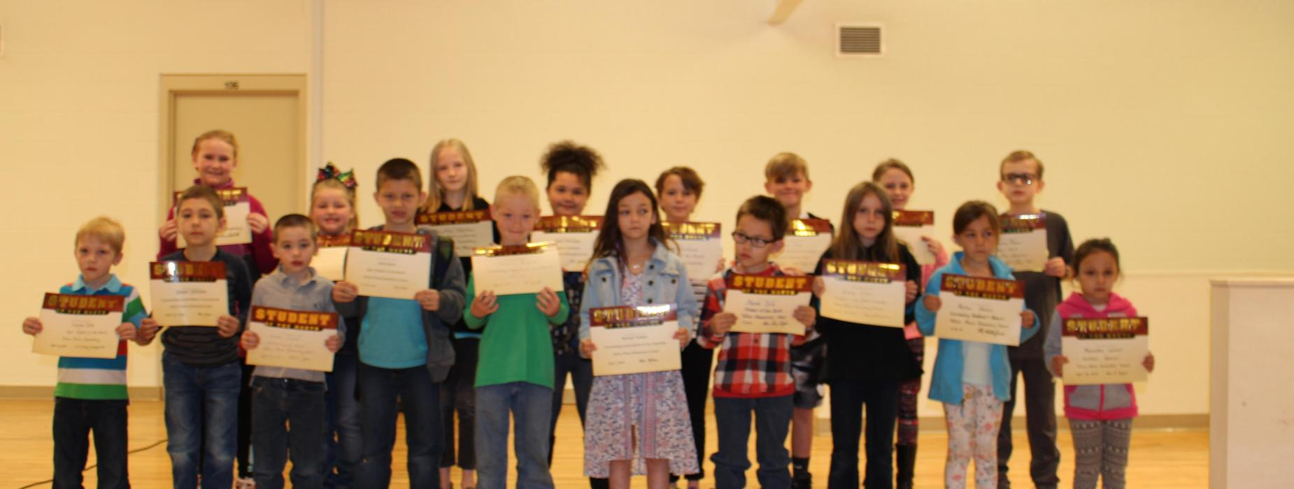 Student of the Month Ceremony