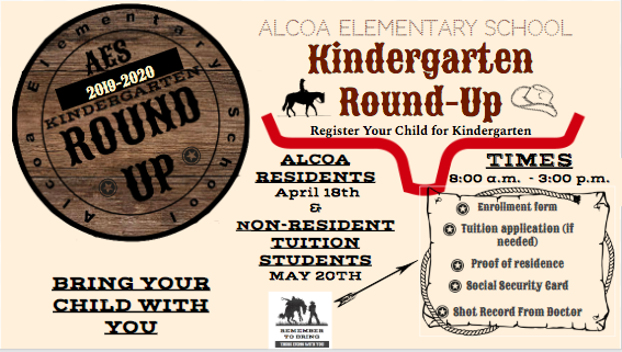 Kindergarten Round Up Registration for Alcoa Resident and Non-Resident Tuition Students Featured Photo