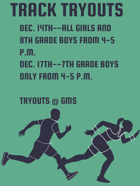 Track tryouts flyer