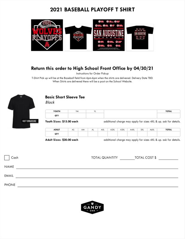 Baseball order forms
