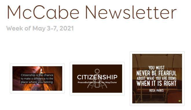 McCabe Newsletter for May 3-7, 2021 Thumbnail Image