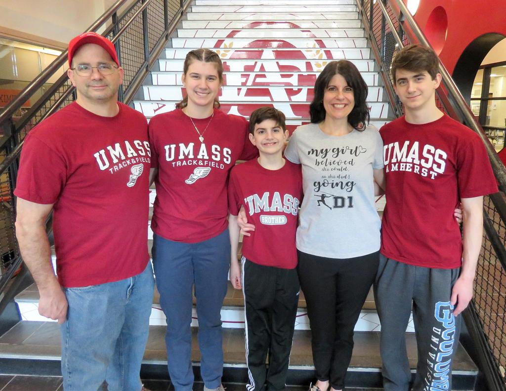 The Cardinale family, in front of the main stairway at EHS