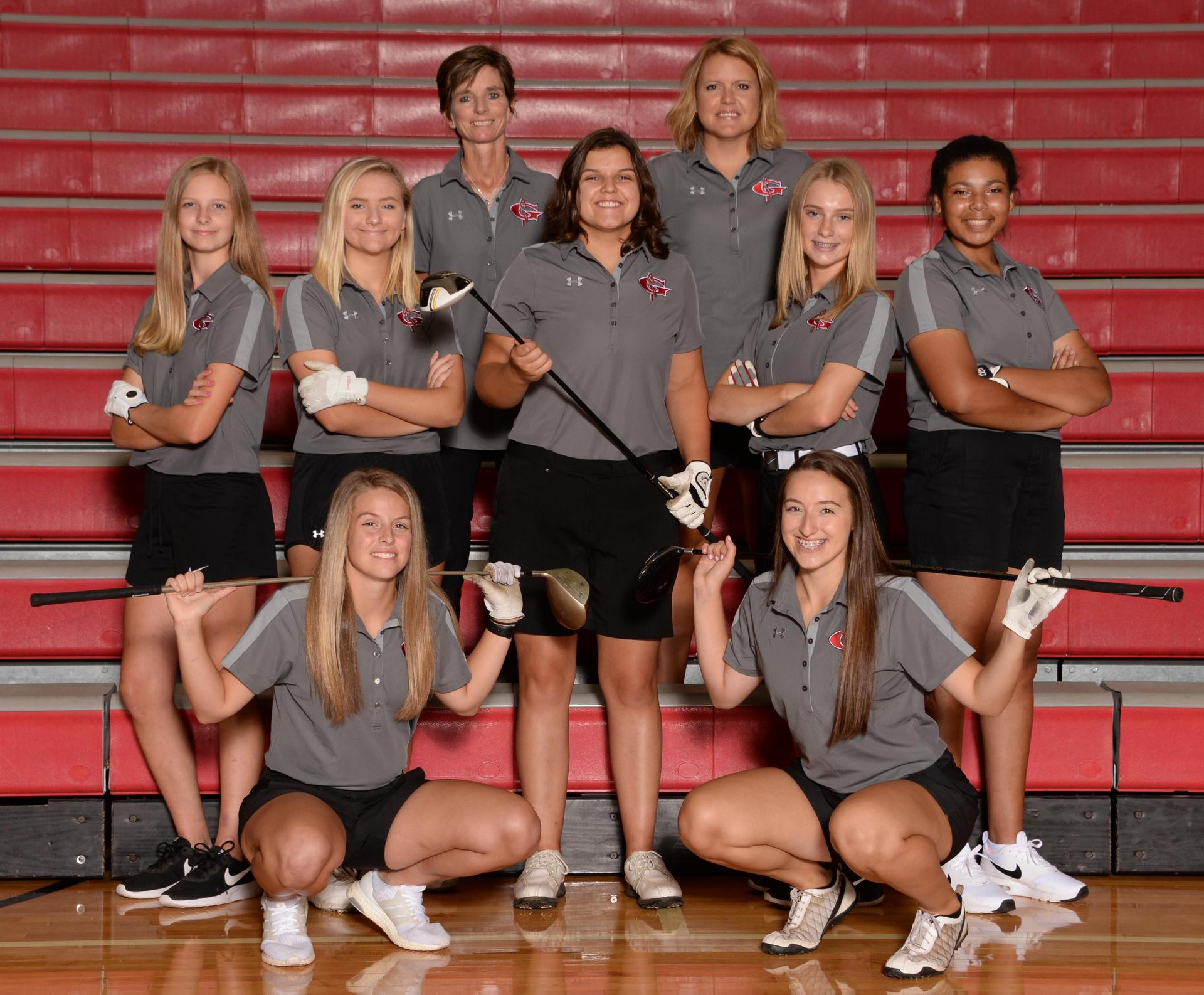2018 varsity girls golf team