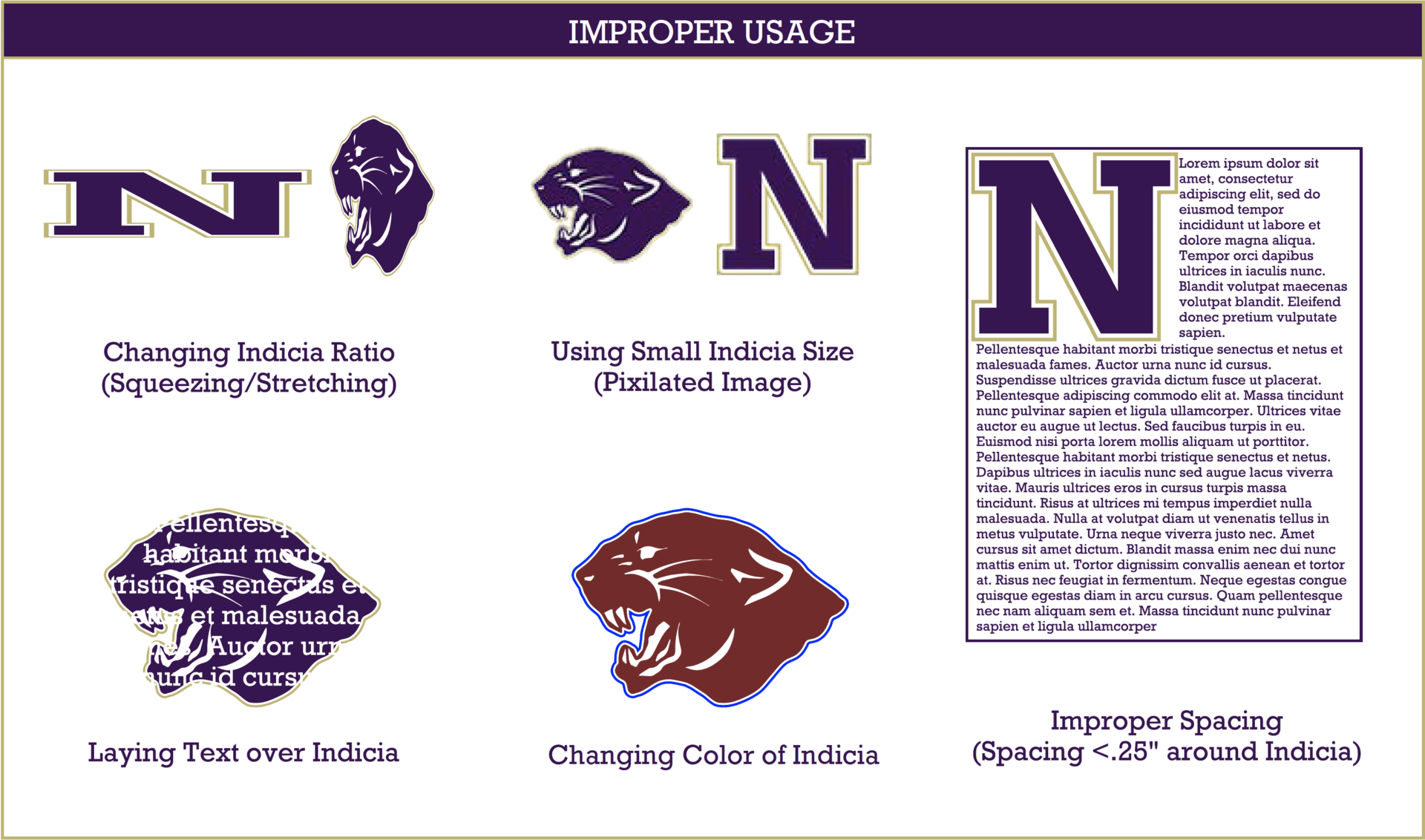 Improper Usage Graphic