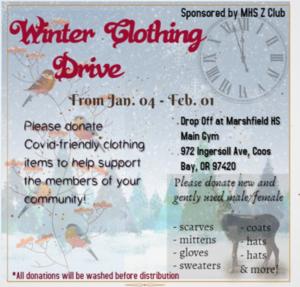 Z Club Winter Clothing Drive