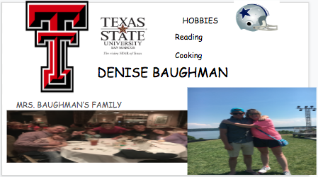 Welcome to Mrs. Baughman's Page