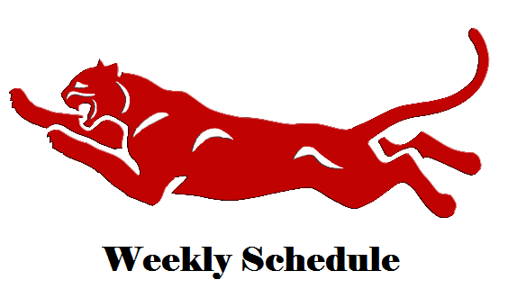Red Cougar /text: Weekly Schedule