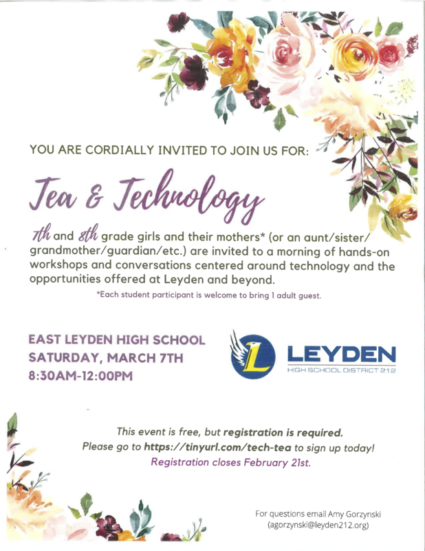 Leyden Tea and Technology Workshop - Girls - 2020