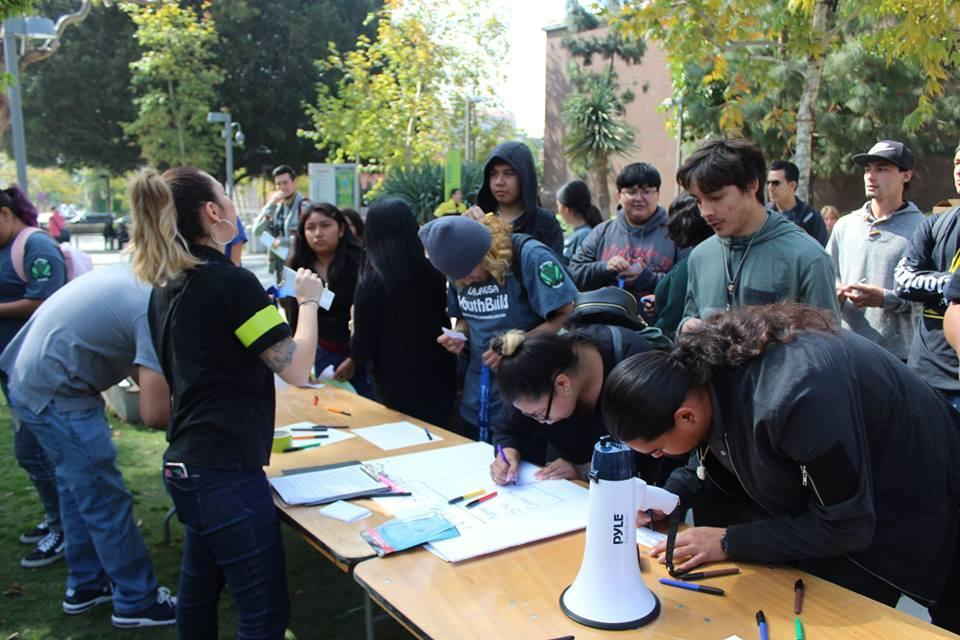 YouthBuild Day registration table