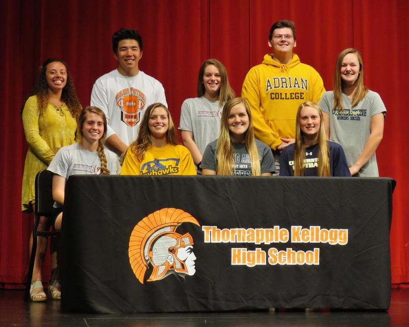 Ten TKHS students have signed to play sports with colleges and universities.