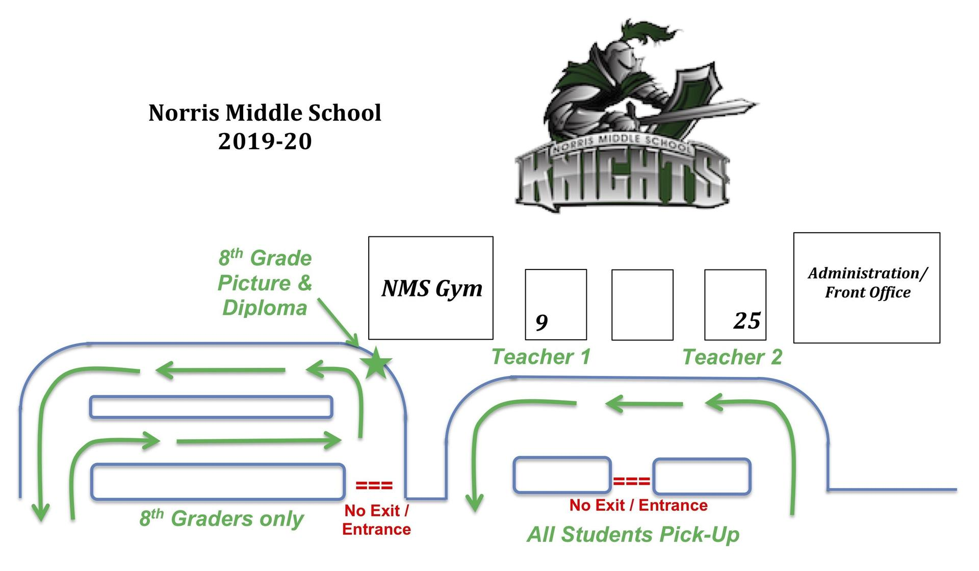 nms student pickup map