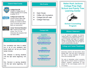 Counseling Brochure Page 1